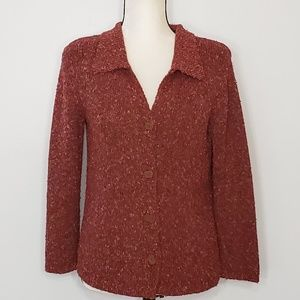 SIGRID OLSEN sport button up v neck cardigan